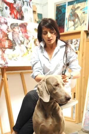 Ula Dzwonik from Poland in her atelier