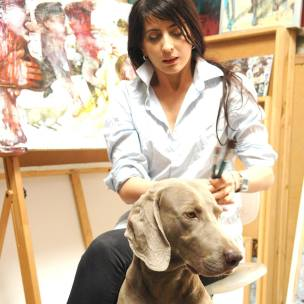 Ula Dzwonik from Poland in her atelier