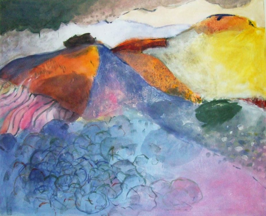 hilly abstracted landscape by Gerrit Oppelland-Hampel